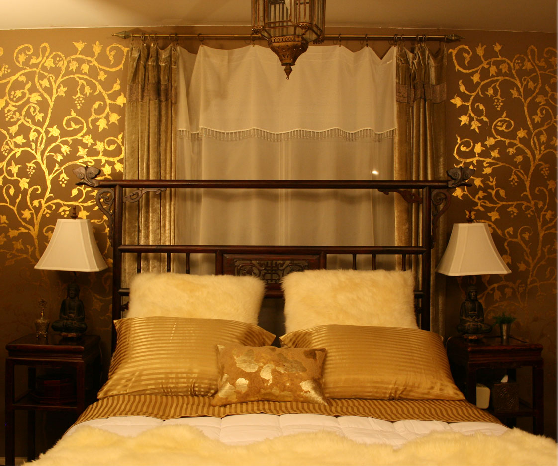 Here are some pictures of my gold bedroom;