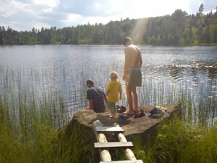 Ett besök med vy över sjön