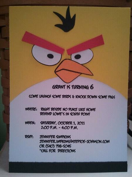 Todo Para Eventos: INVITACIONES DE ANGRY BIRDS.
