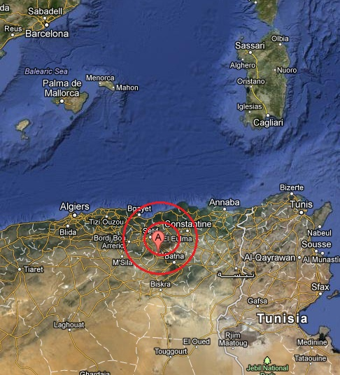 northern algeria earthquake 2013 March 16
