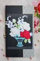 昭和レトロな薔薇のペーパーホルダー