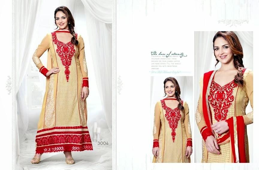 EshaDeolSalwarSuits2013 2014 wwwfashionhuntworldblogspotcom 006 - Wonderful Color Combination Esha Deol Suits