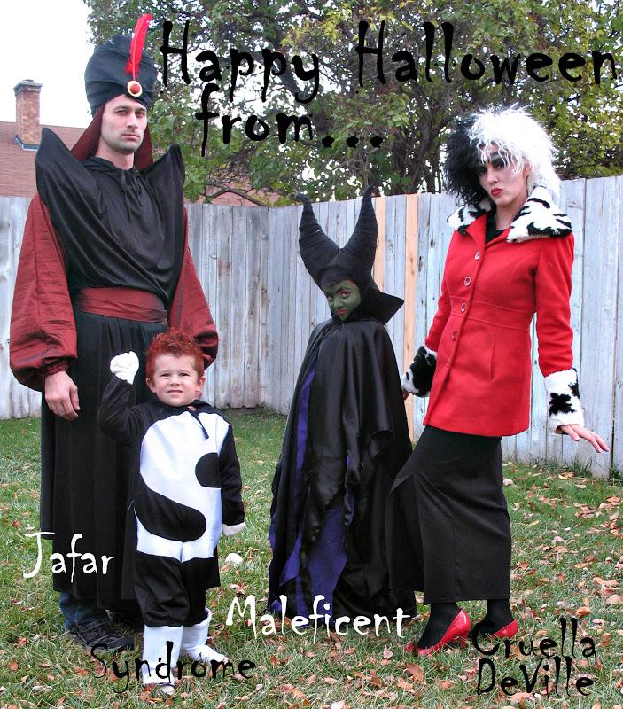 family halloween costumes disney villains