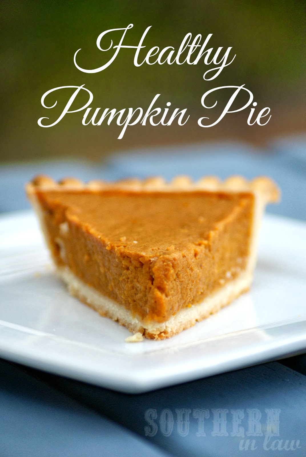 Healthy Pumpkin Pie Filling makes enough for one medium pie