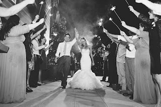 Sparklers for the newlyweds - Tyler & Megan at Sodo Park