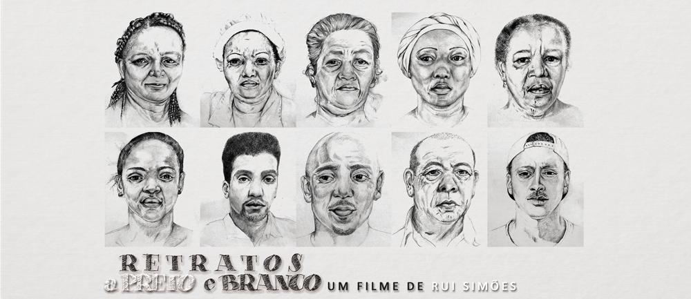 Retratos a preto e branco