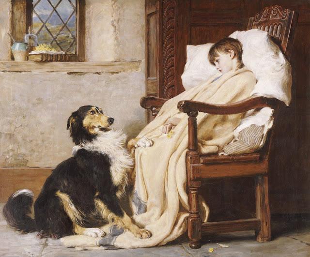Romanticism,dog paintings,Briton Riviere