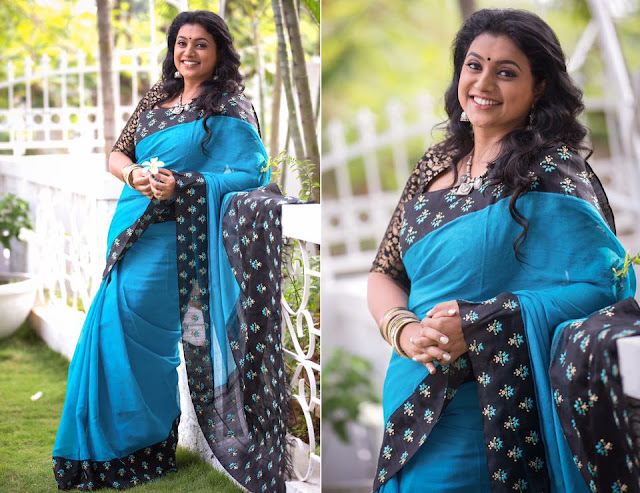 Roja in Cotton Saree by Bhargavi