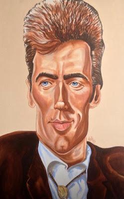 Caricature de Clint - Acrylique sur toile - 90x60cm Guillaume Néel©