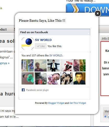 Cara Membuat Widget Like Box Facebook Melayang