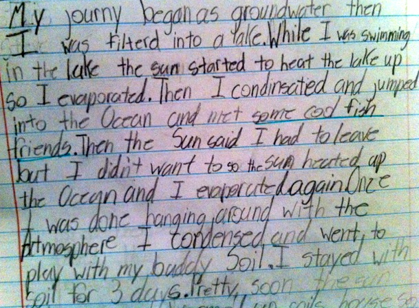 Water Cycle Writing Project