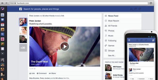 Nuevo diseño en Facebook, mucho más atractivo