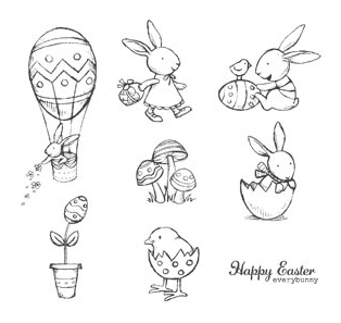 Everybunny Stamp Set Artwork - Stampin' Up!