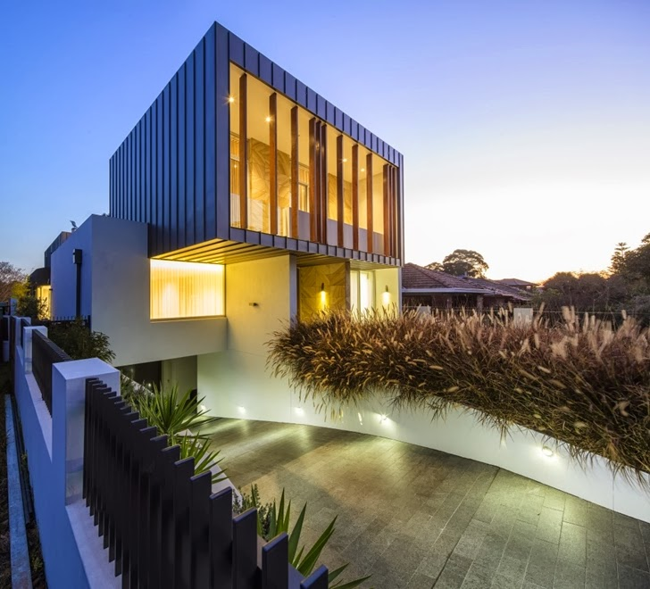 Facade of Beautiful Box House by Zouk Architects