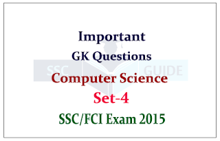 Computer Quiz Questions for FCI / SSC CHSL Exam