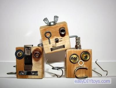 DIY Robot Key Rings