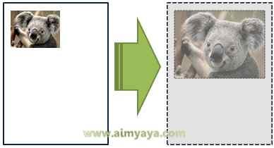Gambar: Contoh  hasil print yang tidak sesuai (menjadi kecil)