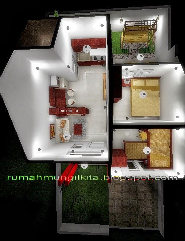 penataan rumah tipe 30 tanah 72 m2 1 lantai 2 kamar