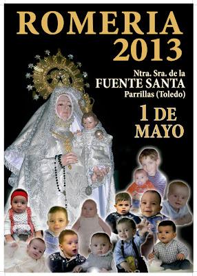 Cartel Romería Ntra Sra. de la Fuente Santa. Parrillas. Toledo