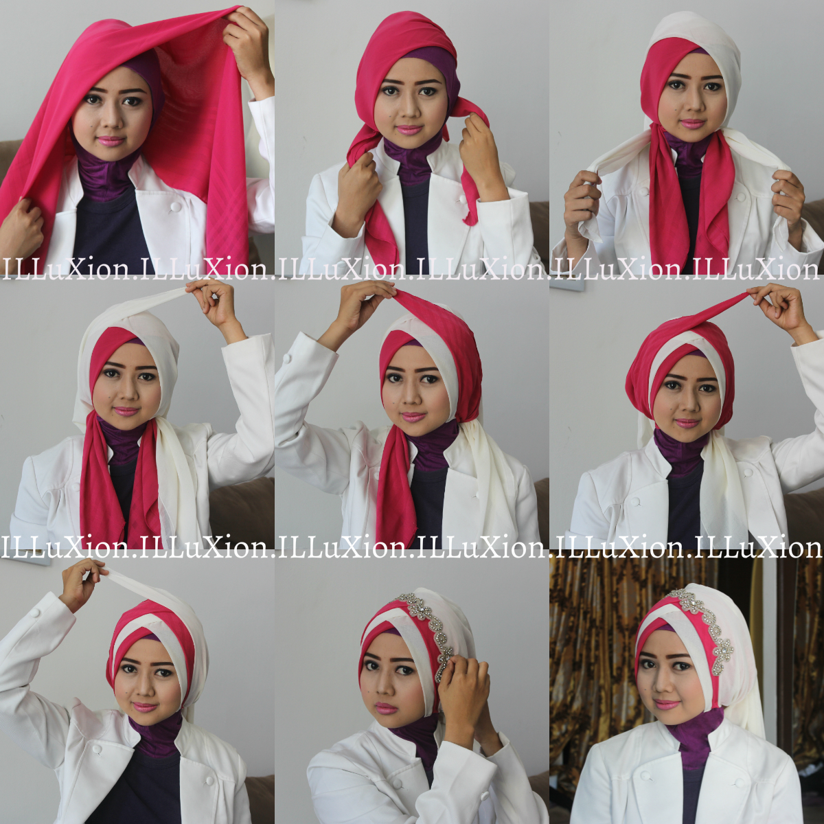 ILLuXion Tutorial Hijab Formal By ILLuxion