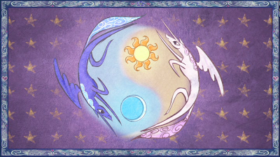 Luna and Celestia in the intro sequence