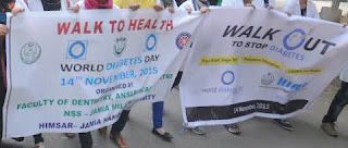 World Diabetes Day: Walk to Health to promote awareness about Diabetes