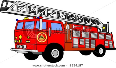 Then a shiny red fire engine raced down the street, blasting it's ...