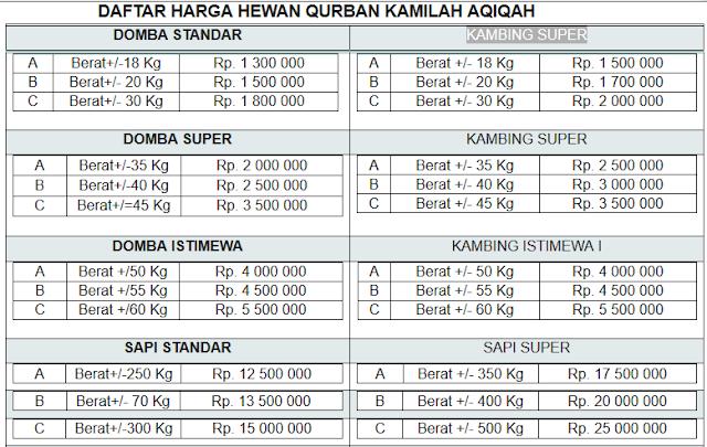 Daftar Harga Hewan Qurban Terbaru 2013