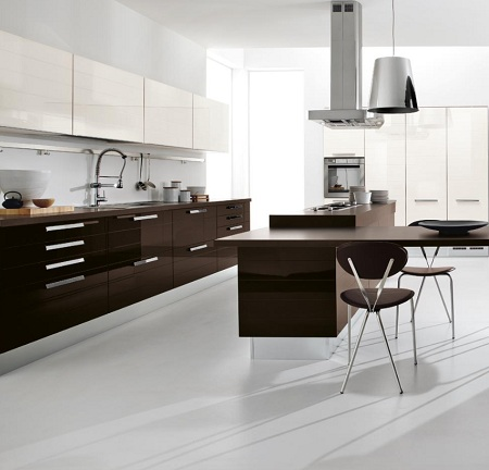 Captivating Modern And Luxury Kitchen Colors Design Kitchen Ideas Dark Brown And White  Kitchen Design. Brown