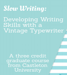 Typewriter Graduate Course!