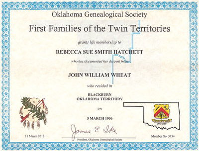 Becky\'s Bridge to the Past: First Families of the Twin Territories