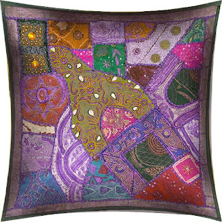 Hand Embroidered Gujrati Cushion Cover