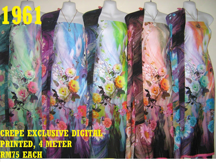 CDP 1961: CREPE EXCLUSIVE DIGITAL PRINTED, 4 METER, 5 COLORS