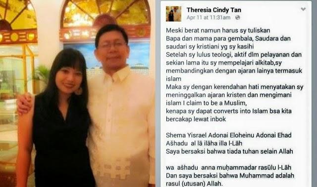 Pengakuan Mengejutkan Theresia Cindy Tan Pasca Lulus Teologi