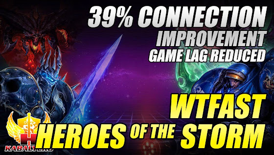 WTFast + Heroes Of The Storm, 39% Connection Improvement, Game Lag Reduced