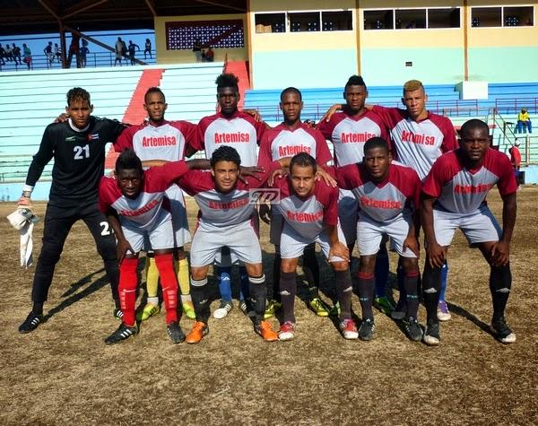 Equipo fútbol Artemisa en Torneo Ascenso 2015