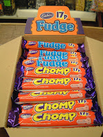 Chomp bars, Cadbury's, 17p Chomp bar