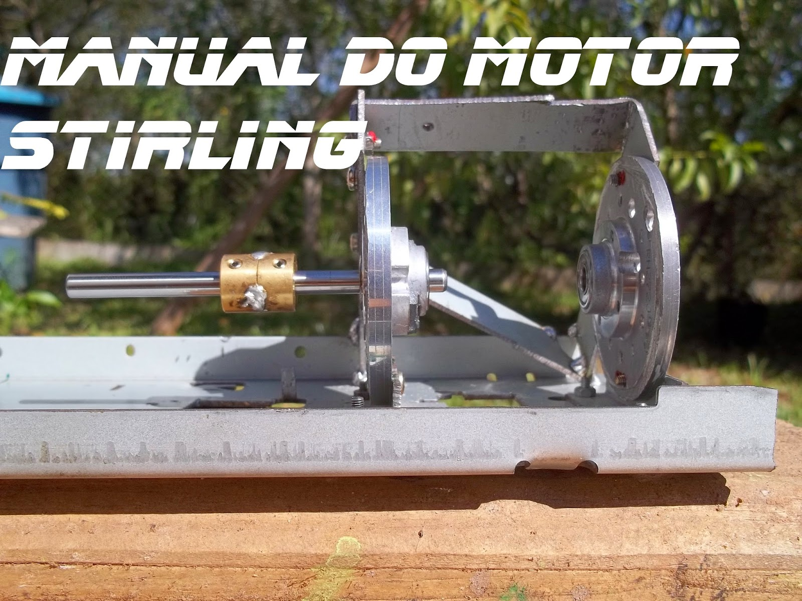 Cabeçote de vídeo cassete montado sobre a base do motor, Manual do motor Stirling