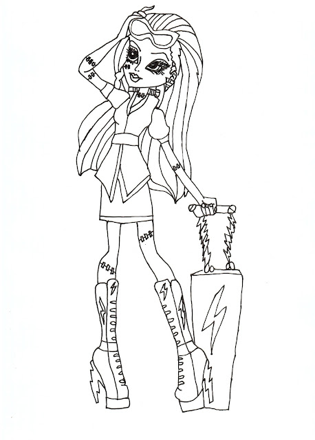 All Monster High Character Coloring Pages High Characters Coloring Pages
