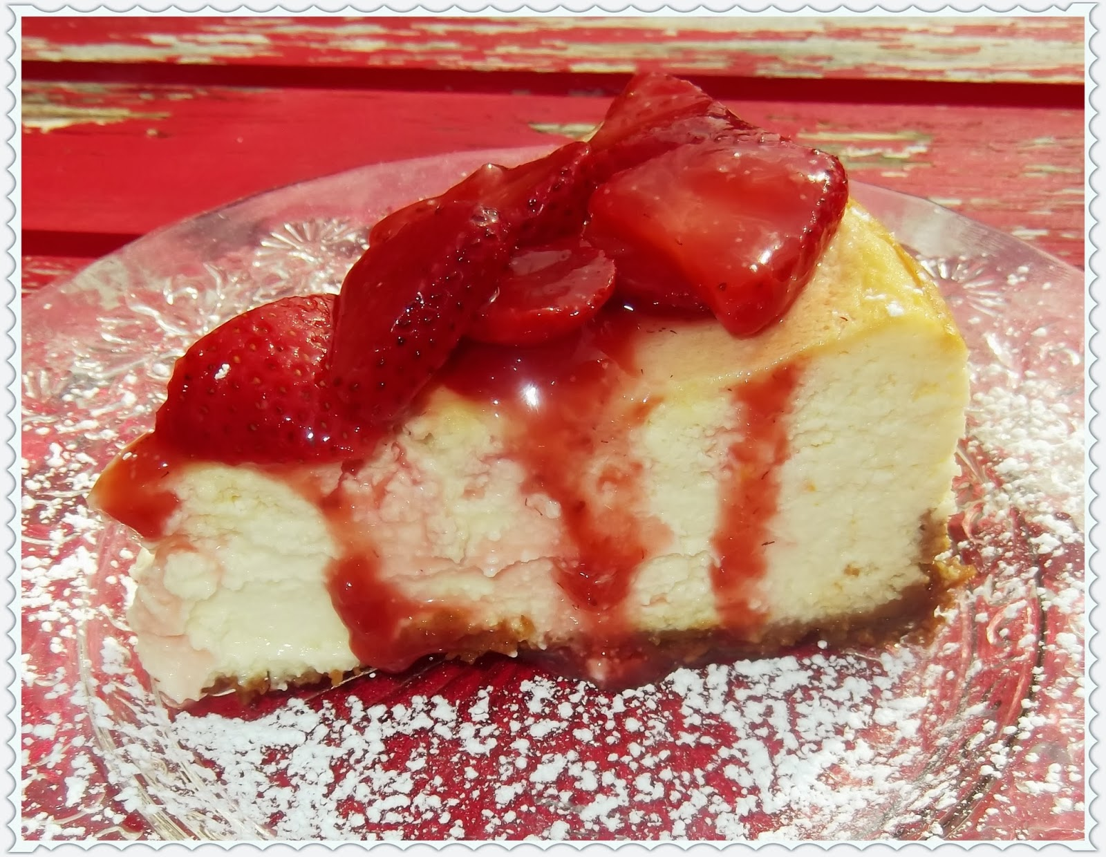 Rosie's Country Baking: Italian Cheesecake with Strawberries