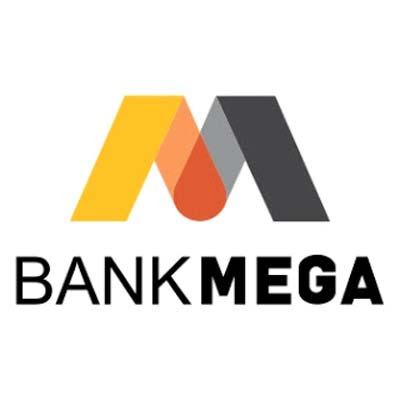 new logo baru bank mega vector