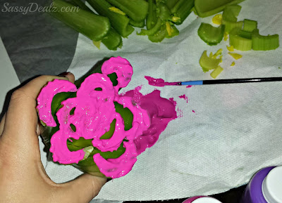 celery flower art project