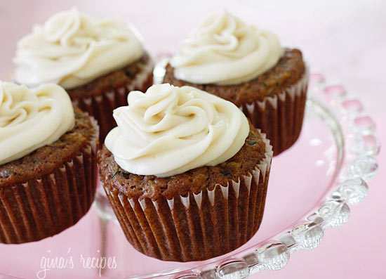 Pineapple Zucchini Cupcakes with Cream Cheese Frosting ...