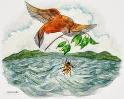 La abeja y la paloma fábula con moraleja, fábula de Esopo para niños