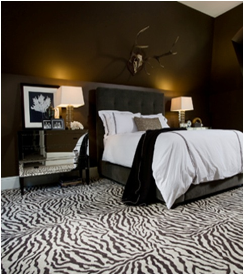 Zebra decoration for dormitories bedroom decorating ideas for Zebra print bedroom ideas