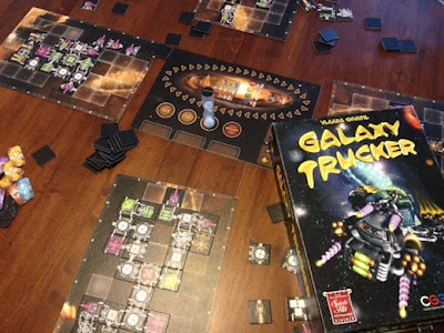 Galaxy Trucker board game in play