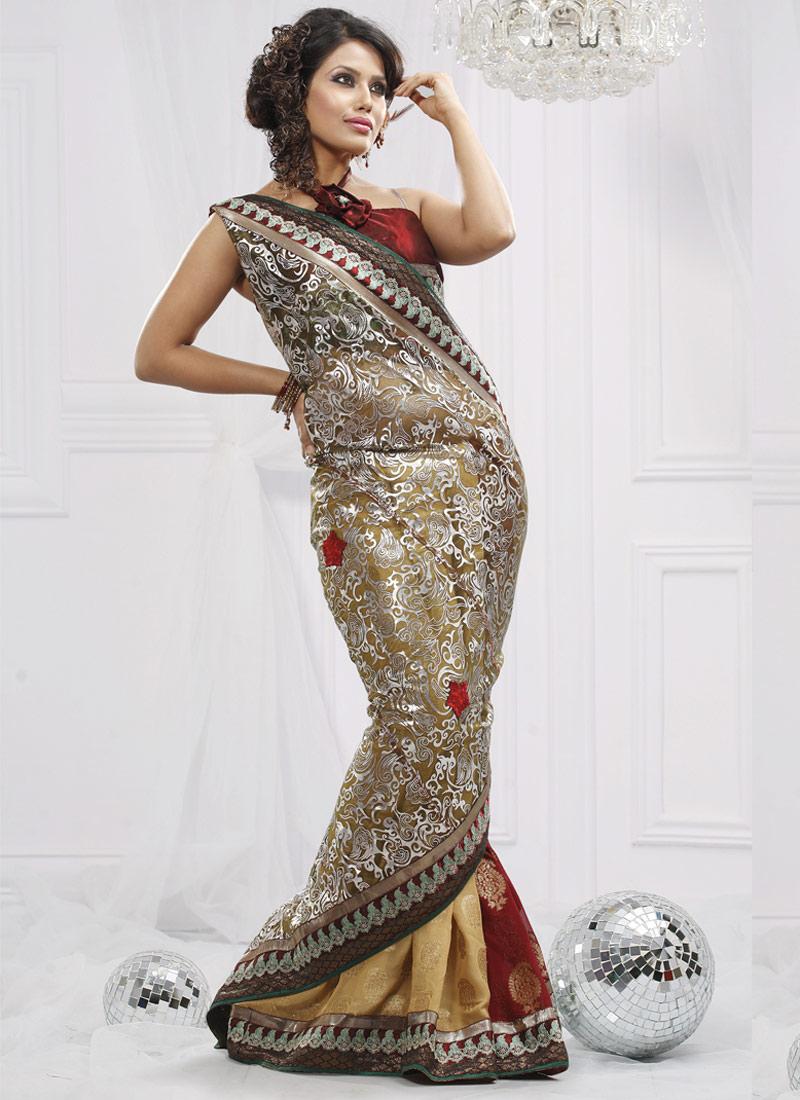 Indian Banarasi Saree, Banarasi Saree Fashion, Banarasi Saree - falk ...