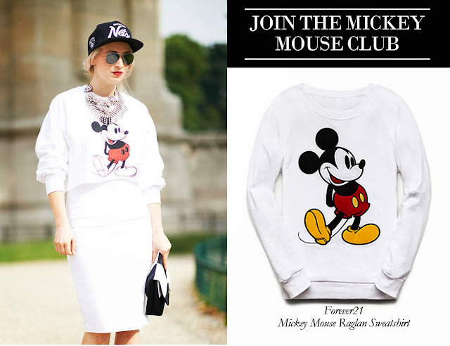 Mickey Mouse Raglan Sweatshirt Forever21