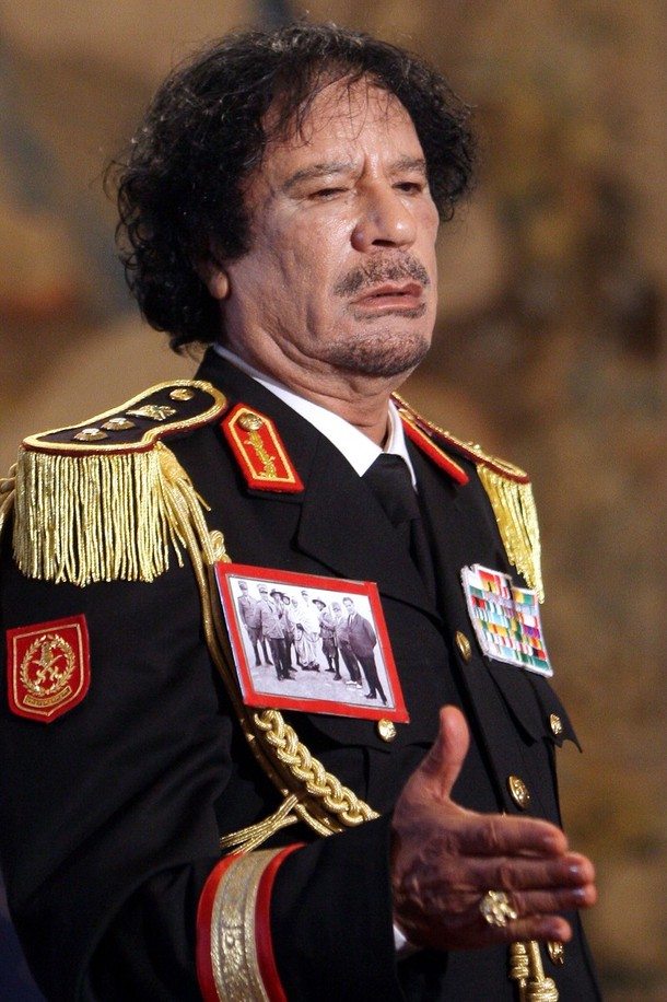 The ironyof course is that gaddafi like saddam hussain in iraq was