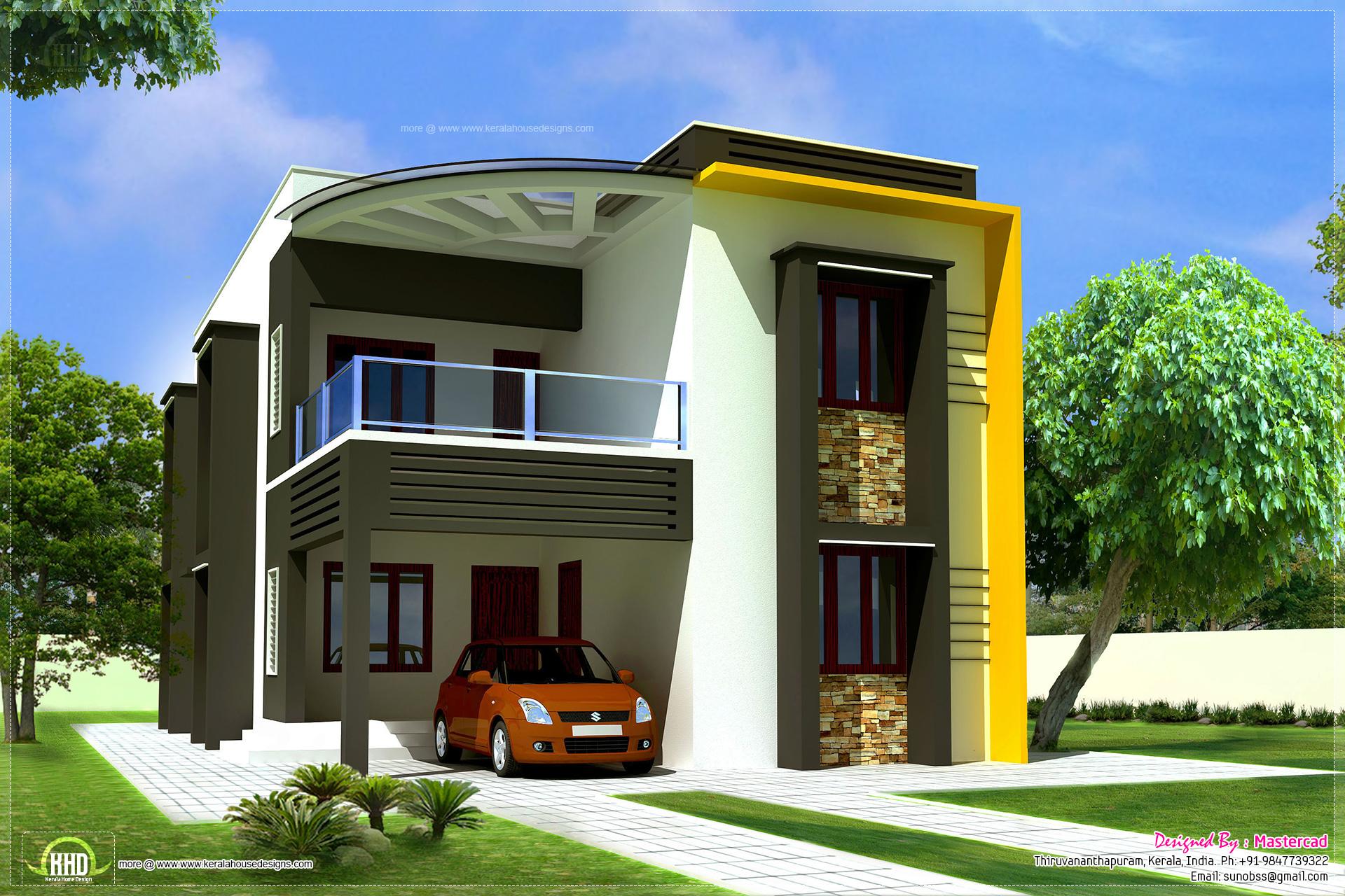 1900 modern contemporary villa kerala home for Contemporary villa